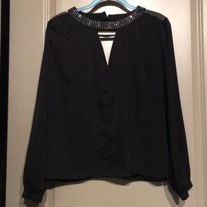 Skies are Blue Detailed Collar Blouse L